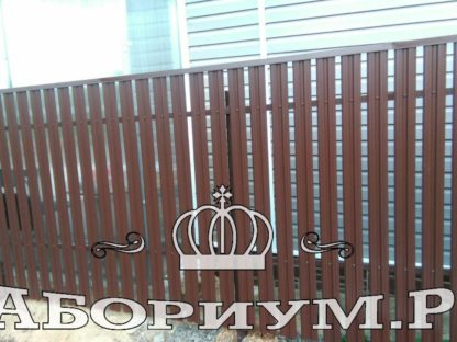 Забор евроштакетника в Домодедово