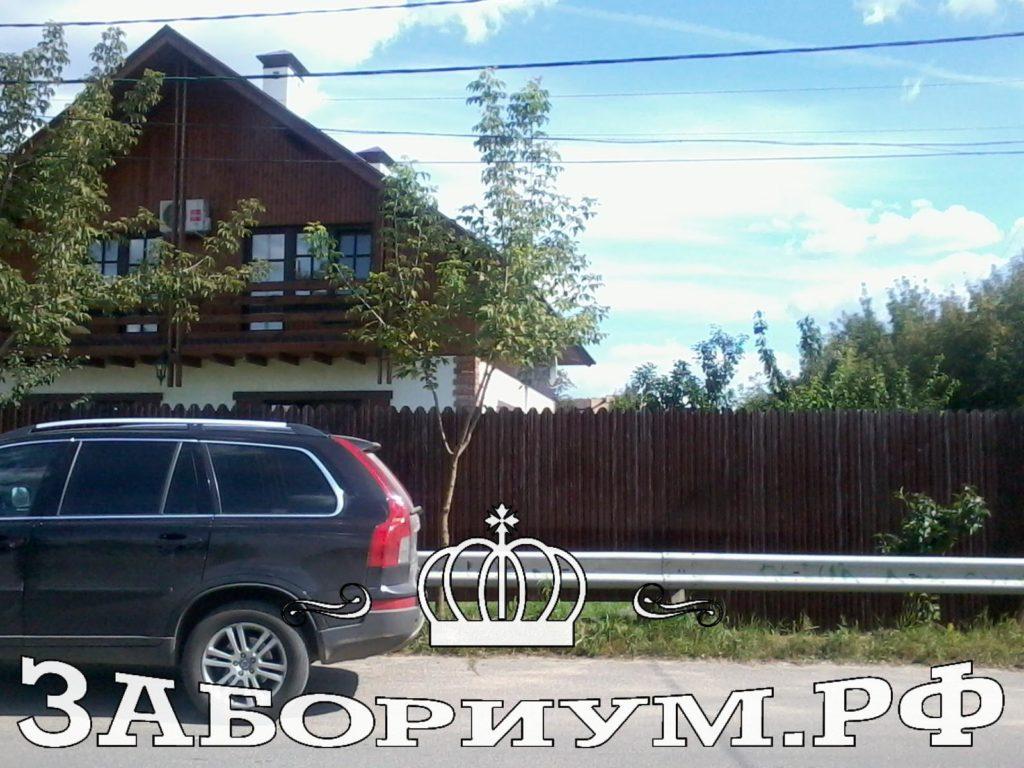Забор из фигурного профнастила в г.Мытищи