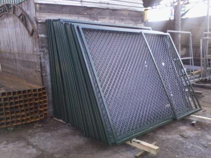 Забор секционный из сетки-рабица в г.Зеленограде