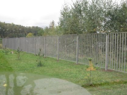 секционный забор из профильной трубы в г.Митино