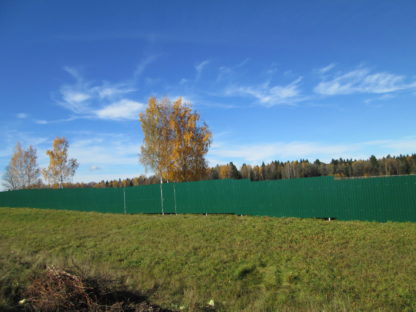 Забор из профнастила и из сетки-рабица в г. Струнино