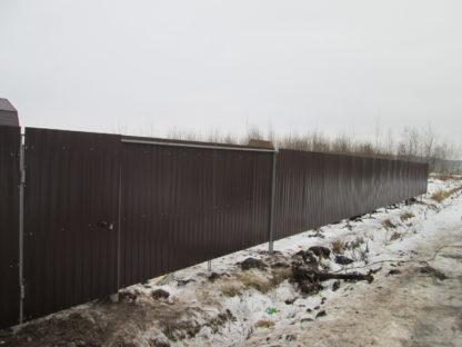 Забор из профнастила в г. Бронницы