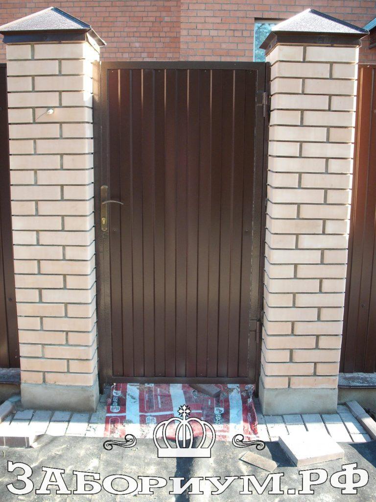 Автоматические откатные ворота закрытые профнастилом в г. Мытищи