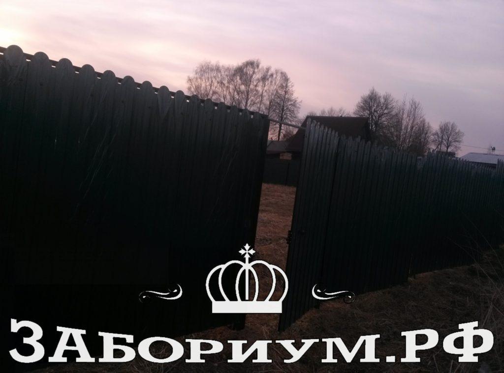 Забор из фигурного профнастила в Зеленограде
