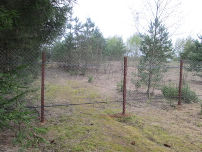 Забор из сетки-рабица в г. Дедовск