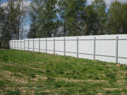 Забор из профнастила цвета слоновой кости (1014) в г. Дмитров
