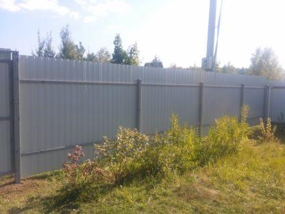 Стандартный забор из профнастила в г. Ногинск