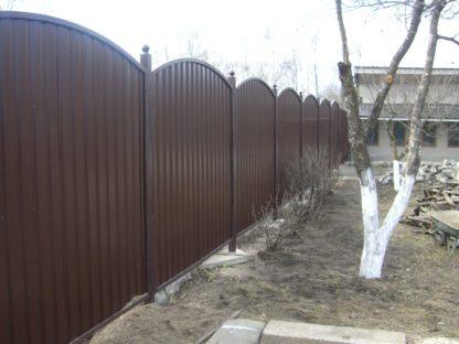 Забор из профнастила в секциях в г. Щёлково