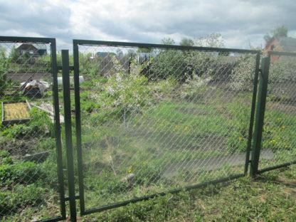 Забор из сетки рабицы в секциях в г. Талдом