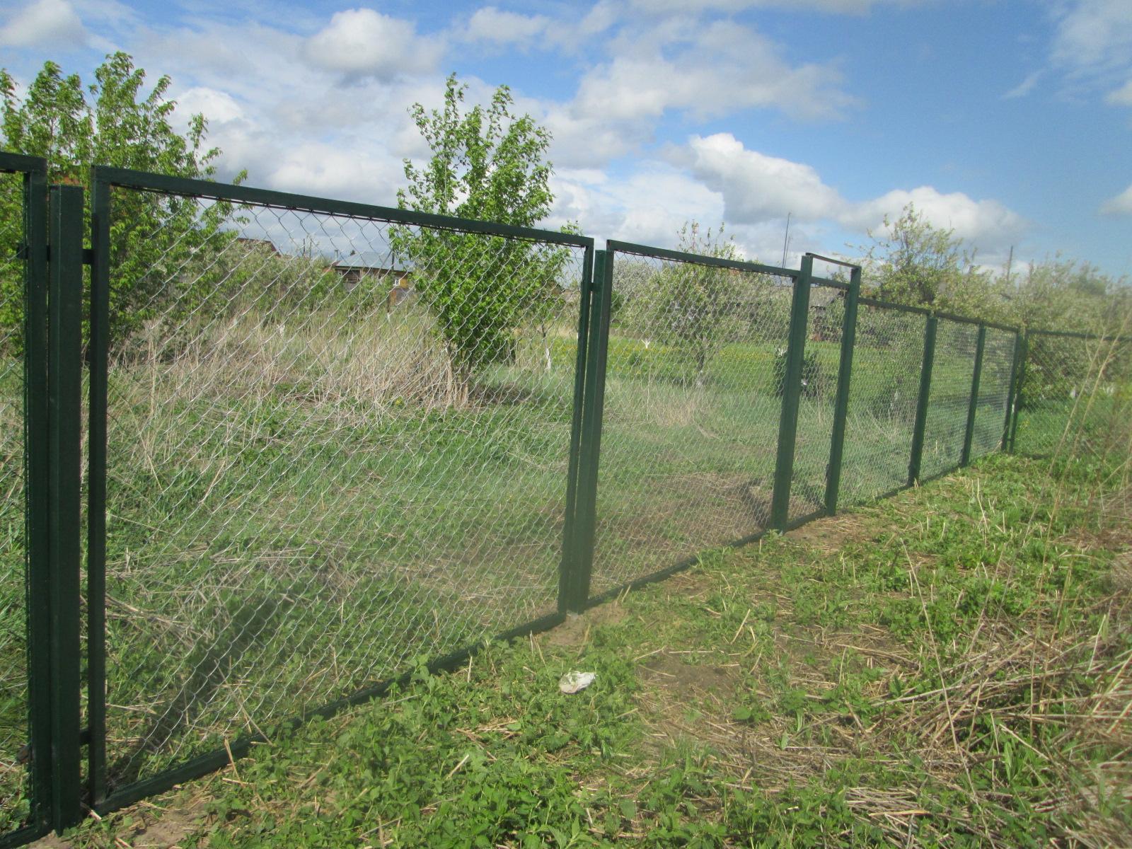 Забор из рабицы в секциях 119