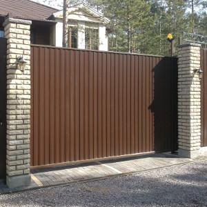oktatnye vorota3 Откатные (сдвижные) ворота