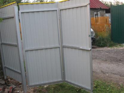 Забор из жёлтого профнастила  в г. Раменское