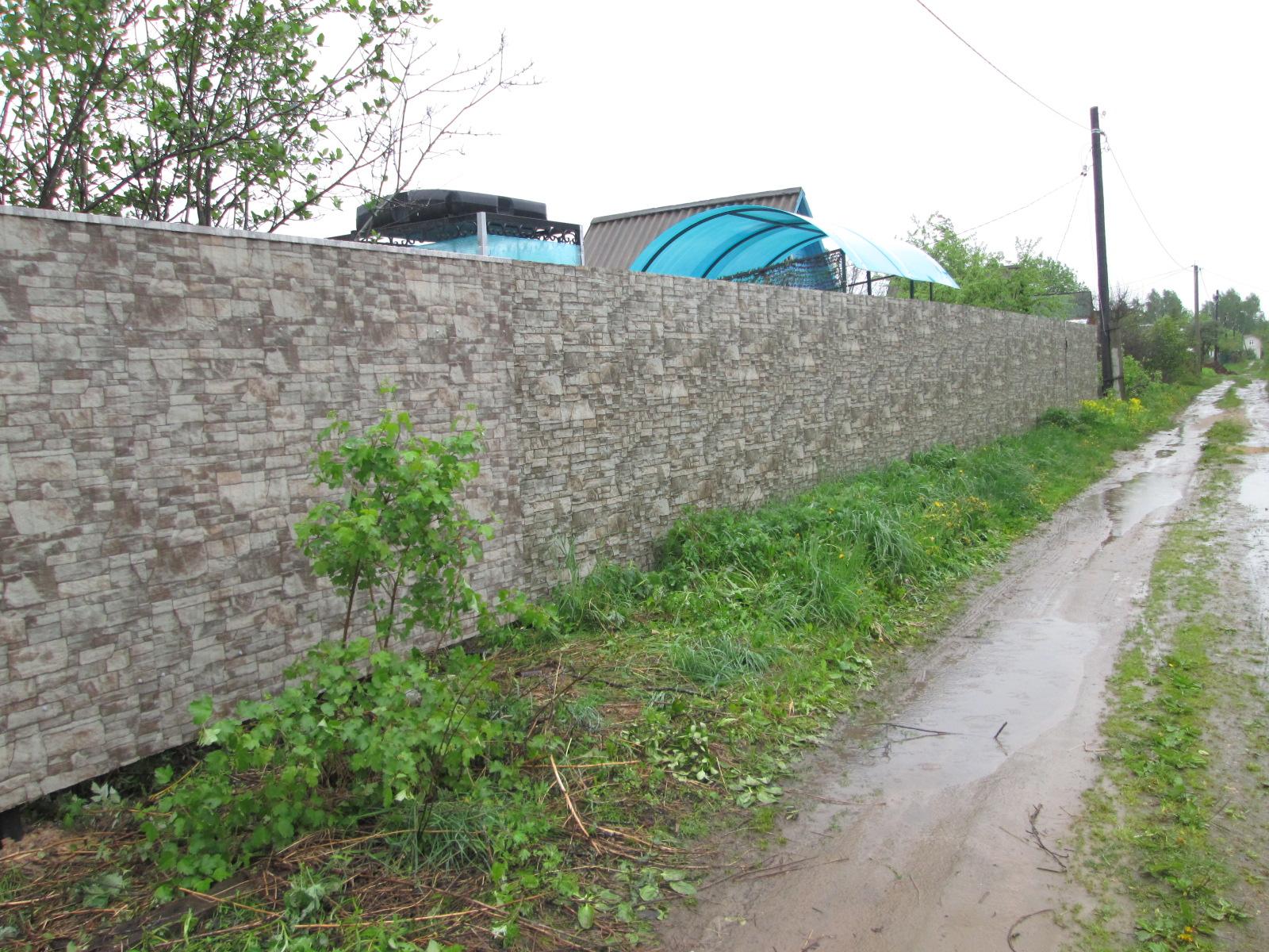 evroshtaketnik v ulyankove 290 Забор из профнастила (Забор из профлиста)