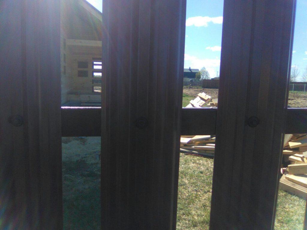 Забор из евроштакетника и сетки рабицы в г. Люберцы