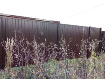 Забор из профнастила в секциях в г. Электросталь