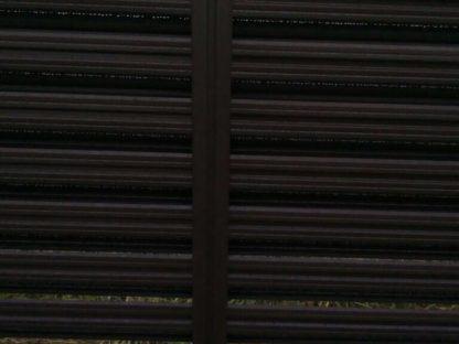 Забор из металлического штакетника горизонтальная шахматка в г. Клин