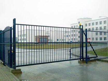 Откатные ворота из профильной трубы г. Звенигород