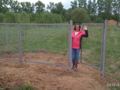 Забор из сетки-рабицы в г. Бронницы